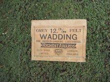 Eley Brothers Limited Grey Felt Wadding- RARE - Unopened Box