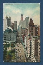 Vintage Postcard Broadway Downtown, N.Y. City Unposted.