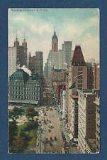 Vintage Postcard Broadway Downtown, N.Y. City Unposted.