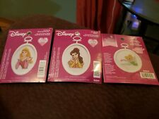 Janlynn Disney 2.5 Inch Round Cross Stitch Tinkerbell, Belle, And Sleeping...