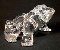 Mosser Art Glass Crystal Frog Discontinued Item
