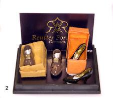 1:12 - Reutter-Miniatur Porzellan Reutter Schuhe / Shoe Set Puppenhaus Miniatur