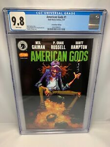 AMERICAN GODS #1 - Convention Exclusive CGC 9.8 Gaiman Russell Hampton Young