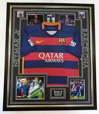 RARE NEYMAR Signed Photo with Shirt Autograph Display *** AFTAL DEALER