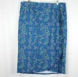 NWT Ripskirt Rip Skirt Hawaii Blue Blossom Size L Length 3