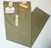 Men Lee Carefree Stretch Straight Fit Khaki Flat Front Performance Series Pants