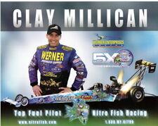 2006 Clay Millican Werner Enterprises/Nitro Fish Top Fuel NHRA postcard