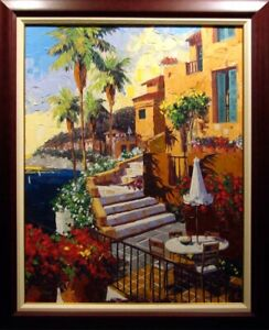 """Barbara McCann """"Day In Ville Franche"""" on Canvas Hand Signed Limited Edition Art"""