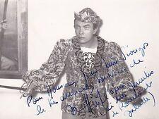 JEAN PIERRE LAFFAGE opera baritone signed photo as Mercutio in Romeo et Juliette