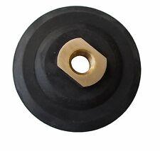 "4"" Hook and Loop Backing Pad, Semi-rigid Rubber, 5/8""-11 Thread"