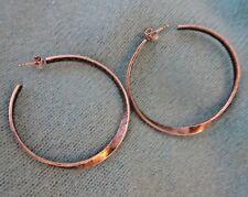 Silpada Sterling Silver Large Hoop Earrings Textured Twisted P1731 Twist of Fate