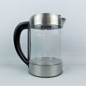 Ovente KG612S Electric Hot Water Glass Kettle 1.7 Liter with Quick-Fill Lid