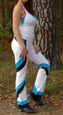 2pc Women Sport Top Bra Pants Set Yoga Fitness Athletic Workout White S/M