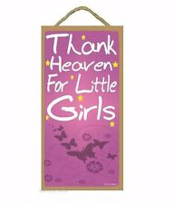 "Butterflies Thank Heaven For Little Girls Kids Nursery Baby Room SIGN 10"" X 5"""