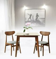 Rattan Wicker Furniture Set of 3 Dining Kitchen Square Table and 2 Yumiko Chairs