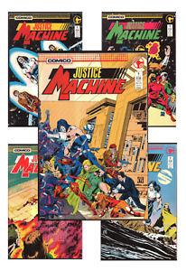 Justice Machine #1-17 VF/NM 9.0+ 1986-88 Comico Comics featuring the Elementals