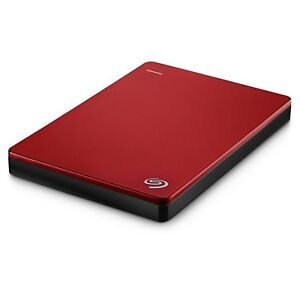 NEW Seagate Hard Disk Drive Portable Hard Drives 1TB Backup Plus Slim Red HDD