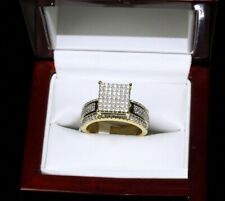 Vvs1 Diamond Engagement Wedding Bridal Ring 14K Yellow Gold Plated 1.80 Ct Round