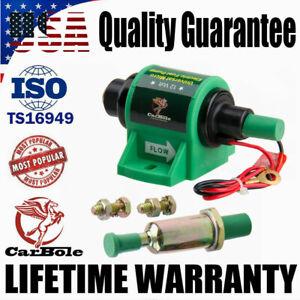 Universal 12V Inline Micro Electric Fuel Pump Diesel Petrol 4-7 PSI Low Pressure