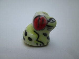 10 x Lovely Hand Painted Ceramic Beads Dog Shaped