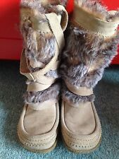 SAM EDELMAN Suede with faux fur   Brown boots size 3