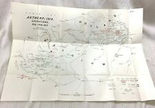 WW1 Military Map Antwerp Operations 1914 British Expeditionary Force BEF LARGE