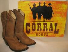 CORRAL Cowgirl Boot  LD Brown Cheetah  Snip Toe  A2867  US 5.5  NEW