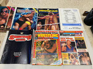 Lot Of 34 WWF And Wrestling Magazines And Programs All 1980s