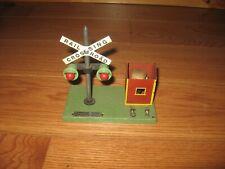 Vtg Train Station American Flyer 759 Operating Rr Crossing Light Shed Bell Rare