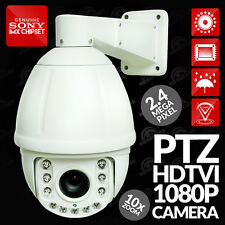 1080p HDTVI 2.4MP PTZ Dome CCTV Camera with 50m Night Vision & 10x Optical Zoom
