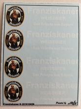 Franziskaner Weissbier Decals 1:160 oder Spur N Wasserschiebebilder