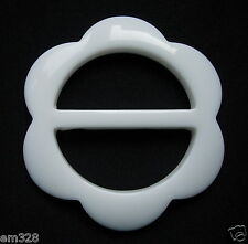 LU05 Off-white Lucite Resin Flower Belt Buckle Accesory/Jewelry