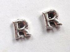 """The Letter """"R"""" Stud Earrings 925 Sterling Silver Corona Sun Jewelry r"""