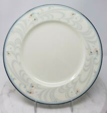 Noritake Evermore 9735 Dinner Plates Floral Band Blue Gray Pink Lot of 4