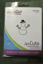 NIP Zip'e Cuts 20007 Snowman Wafer Thin Die by AccuCut