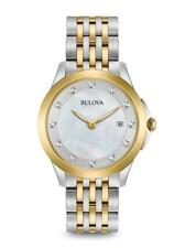 Bulova Women's Diamond Accent TwoTone Stainless Steel Watch 98P161 Missing Links