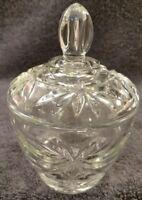 MINT Vintage Anchor Hocking EARLY AMERICAN PRESCUT EAPC Glass SUGAR BOWL w/LID