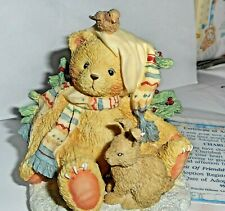 Cherished Teddies retired Charlie Spirit Friendship bird bunny 950742 Christmas
