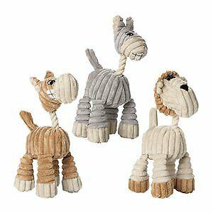 Hunter Huggly Dog Toy Zoo Giraffe Lion Donkey Plush With Rope Neck