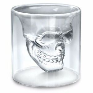 Skull Head Shot Glass Cup Party Wine Beer Glass Mug Crystal Whisky Vodka Cup