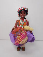 CARLSON DOLL, Mexican Girl w Chicken & Basket # 8-3, w/ Leg Tag &  Stand, VNice!