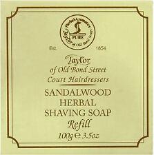 Taylor of Old Bond Street Sandalwood Herbal Shaving Soap - 100 g / 3.5 oz