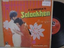 Ravindra Jain – Salaakhen Bollywood Soundtrack 1975 LP Indian (Asha Bhosle) EX
