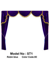 Saaria Home Theater Velvet Screen Curtains Event Drapes Backdrop 7'W X 8'H  ST-1