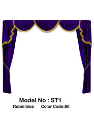Saaria Home Theater Velvet Curtains Event Drapes Backdrop wedding 7'W X 8'H