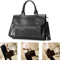 Men Leather Briefcase Handbag Portfolio Attache Case Laptop Business Bag Hot