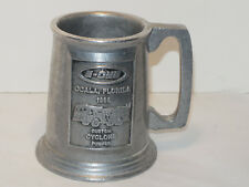 VINTAGE 1988 E-ONE CYCLONE PUMPER FIRETRUCK PEWTER MUG! ENDRAVED!
