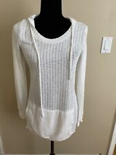 A Pea In The Pod Maternity White Hoodie MEDIUM