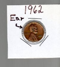 Error coin 1962 1C ear