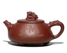 Chinese yixing zisha handmade Zi Clay Dragon Purple sand Stone scoop Teapot 300c